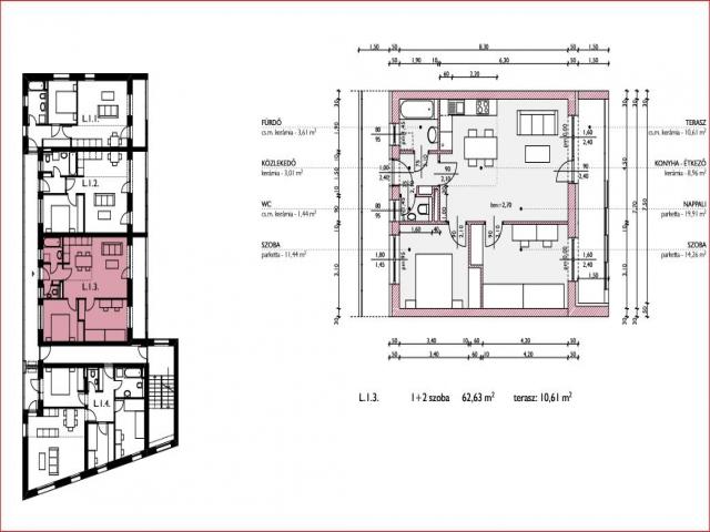 Veszprém belvárosában, 9 lakásos, új építésű társasházban, 1. emelet… 3
