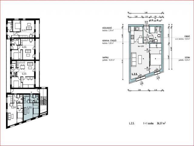 Veszprém belvárosában, 9 lakásos, új építésű társasházban, 2. emelet… 3