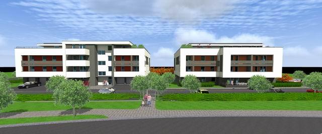Veszprémben, a Fenyő-Liget lakópark I. üteme két épületben 19 db és ? 7