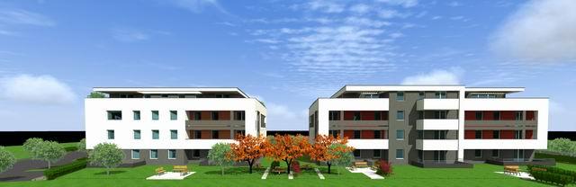 Veszprémben, a Fenyő-Liget lakópark I. üteme két épületben 19 db és … 8