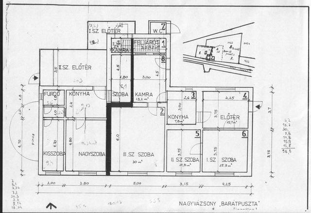 Nagyvázsonyban 1685 m2-es telken, 150 éves kőből épült lakóház eladó… 9